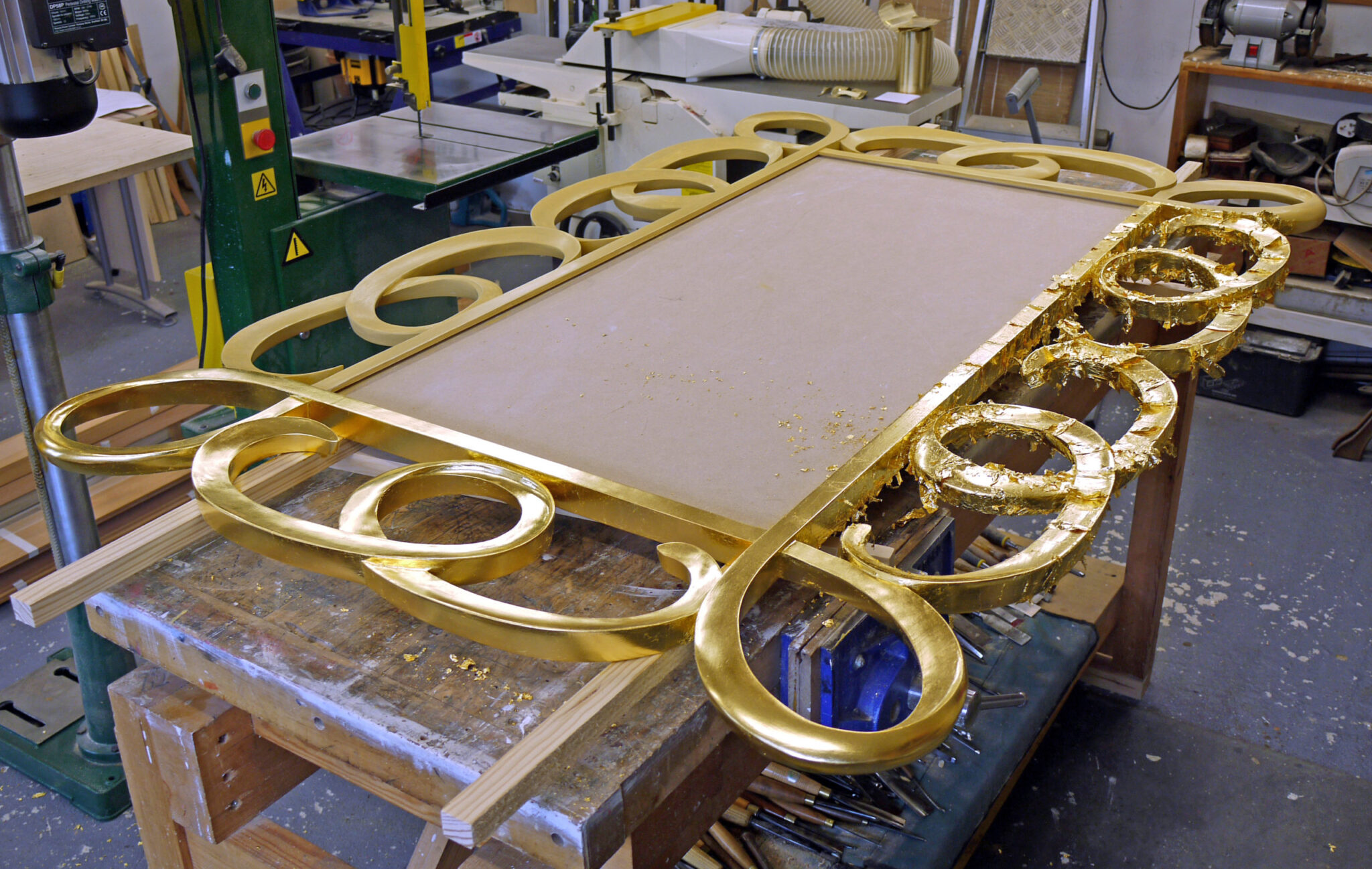 Oil gilding to contemporary mirror frame wood carvers and gilders - Oil Gilding To Contemporary Mirror Frame Wood Carvers