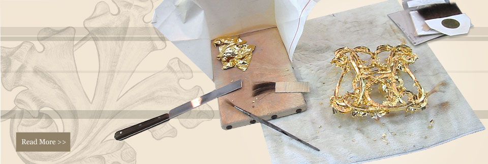 Oil gilding to contemporary mirror frame wood carvers and gilders - Wood Carvers And Gilders
