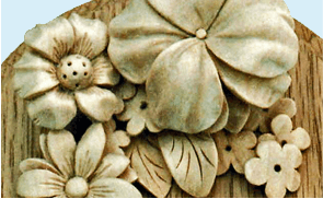 Carved Lime Ornamental Foliage