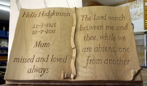 Solid Oak Memorial Book
