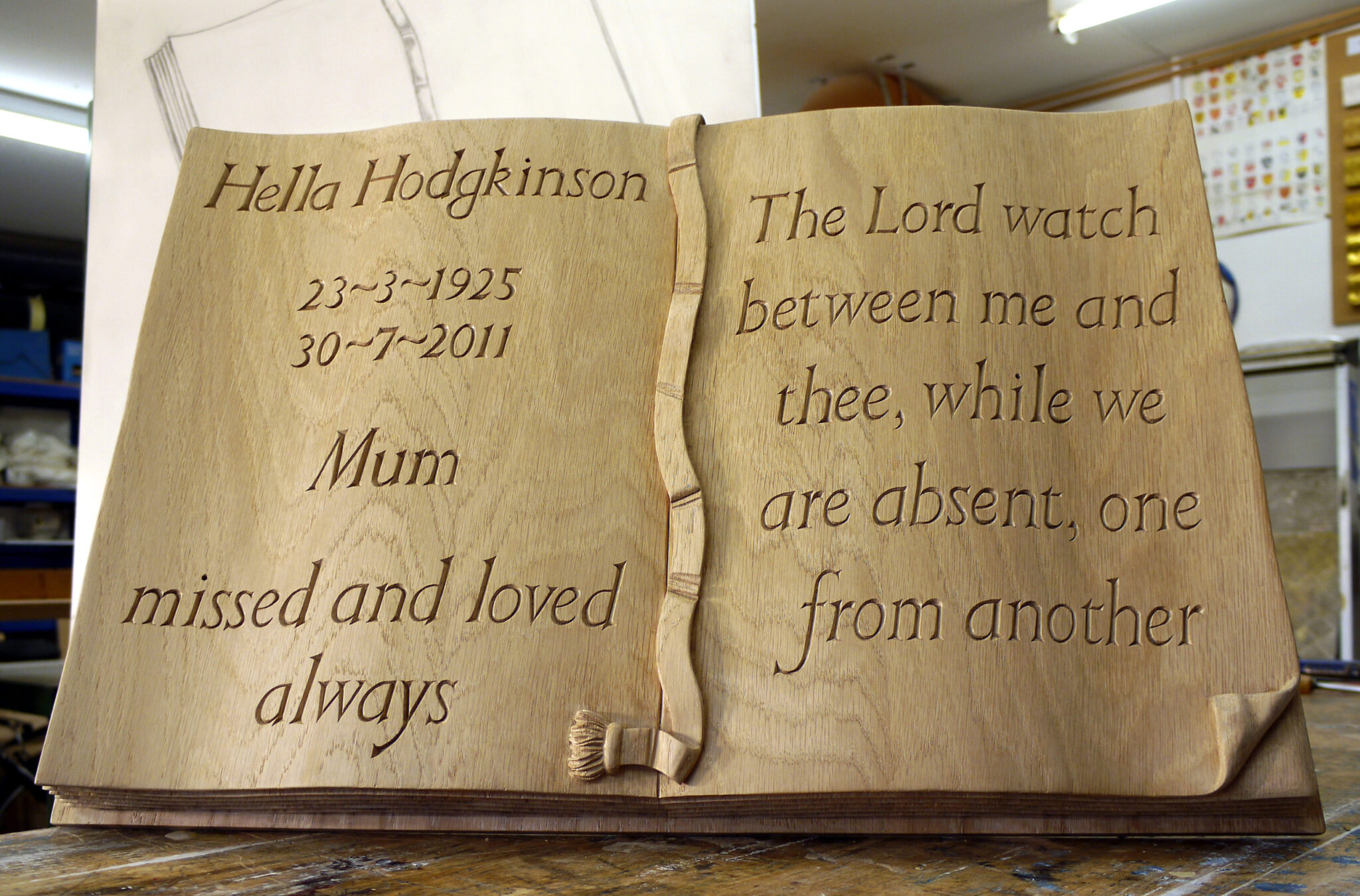 wood carved memorials
