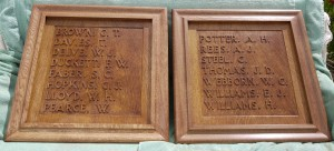Hand Carved Low Relief Lettering out of Solid Oak Panels