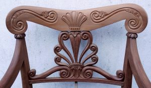 Carved Chair Back in Mahogany