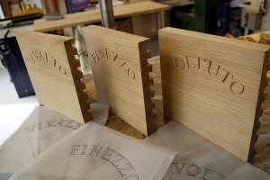 Oak Carved Kitchen Drawer Fronts