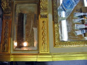 Restoration to Overmantle Mirror Frame