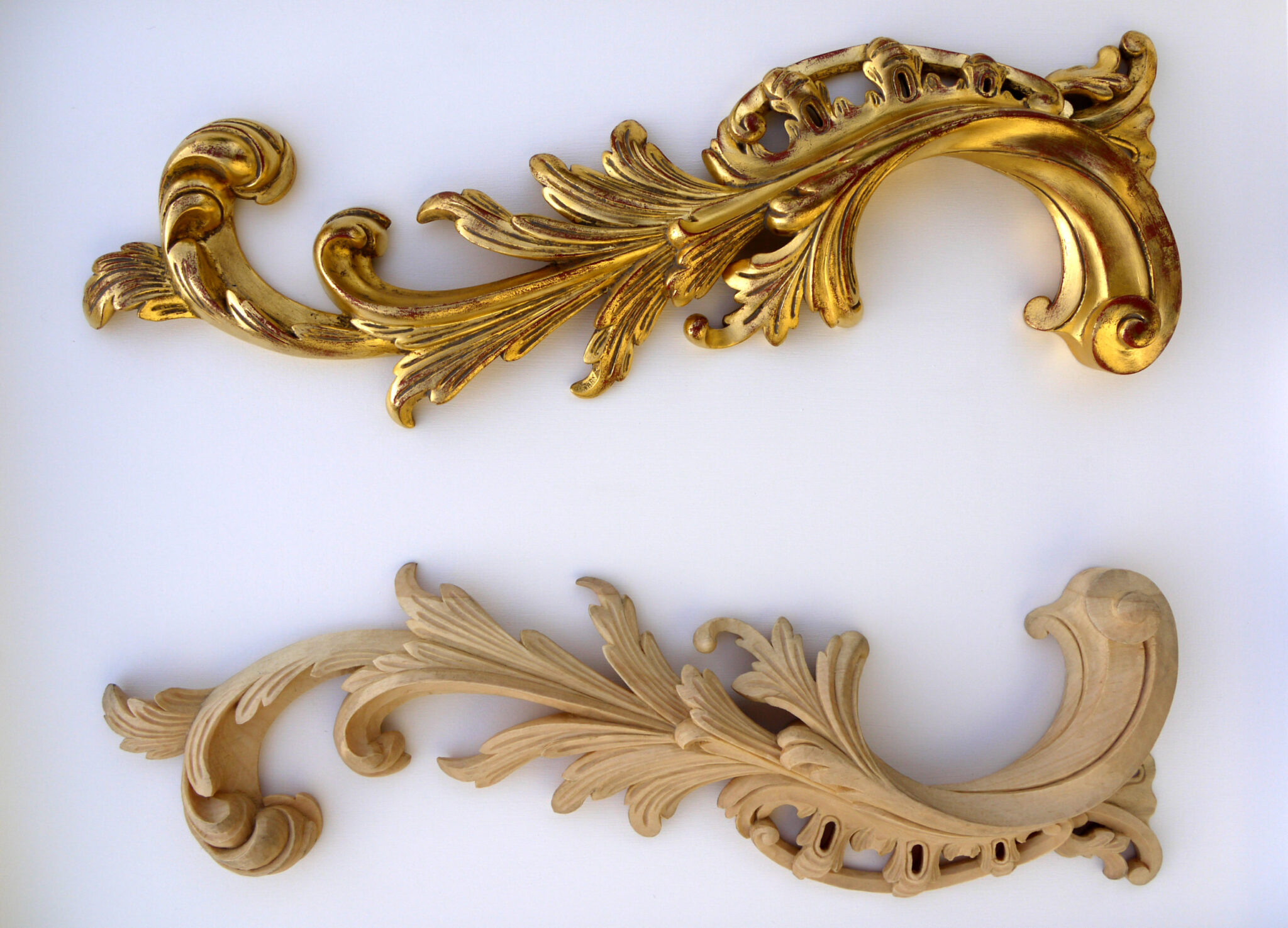 Water Gilding To One Of A Pair Of Carved Pine Rococo Style