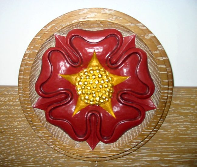 Hand Carved Tudor Rose Roundel