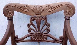 Mahogany Chair Back