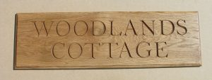 Hand Carved House Name