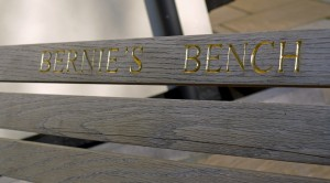 Commemorative Lettering to Bench