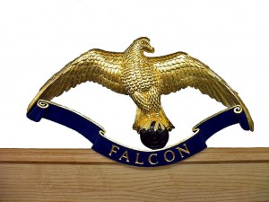 Gilded and Decorated Falcon
