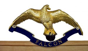 Hand Carved and Gilded Falcon