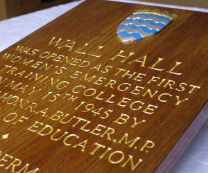 Honours Plaque