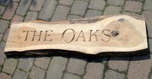 Oak Name Board
