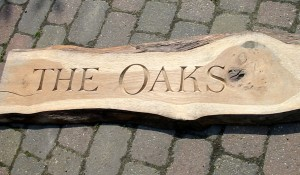 Oak Name Board