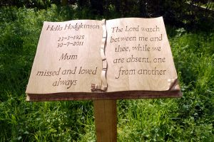 Hand Carved Memorial Book