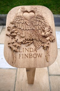 Oak Hand Carved Memorial