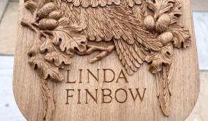 Oak Hand Carved Memorial