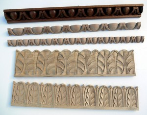 Hand carved mouldings