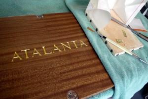 Oil Gilded Hand Carved Lettering