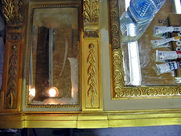 Restoration to Overmantle Mirror Frame
