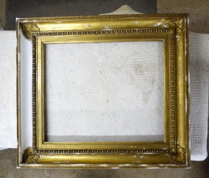Restoration and Conservation of Water Gilded Period Picture Frame