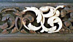 Restoration of Period Frame Hand Carved ornamental leaf work in Lime