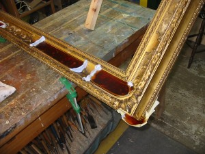 Period Picture Frame with Rubber Moulds