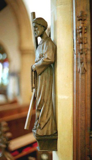 St Andrew Statue
