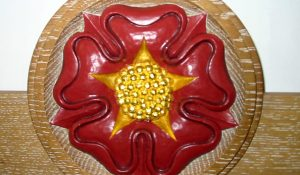 Hand Carved Tudor Rose Roundel