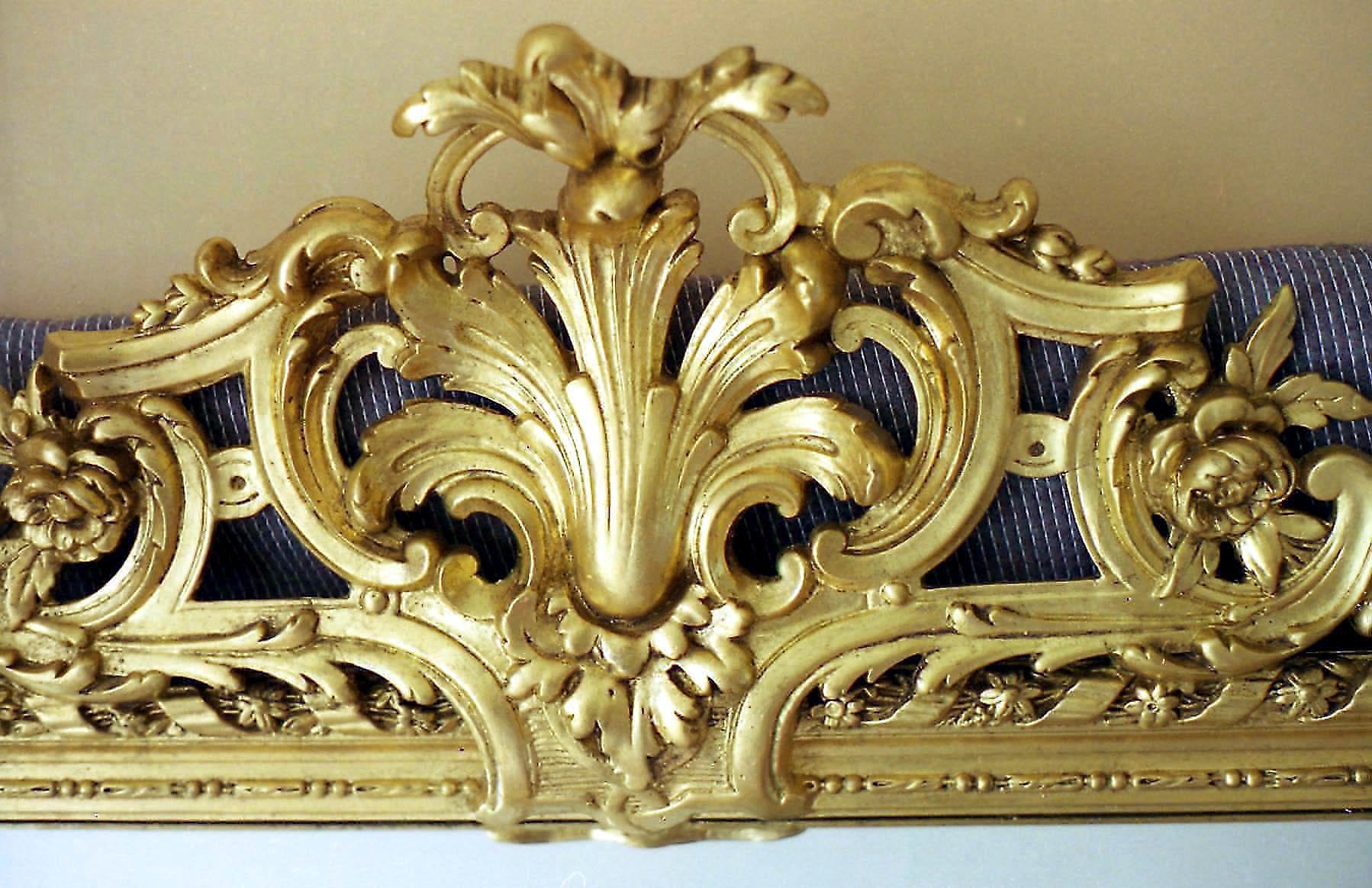 Oil Gilding To Victorian Mirror Frame Wood Carvers And