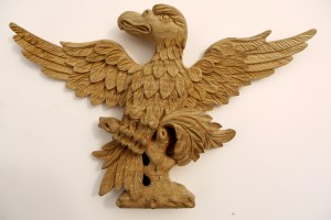 Carved Eagles in Lime