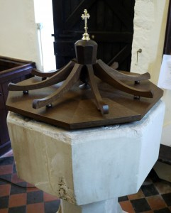 Bespoke Oak Church Font Cover