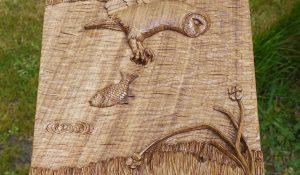 Memorial Carving in Solid Oak