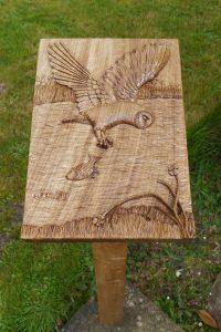Memorial Woodcarving