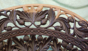 Hand Carved Restoration to Ornamental Foliage