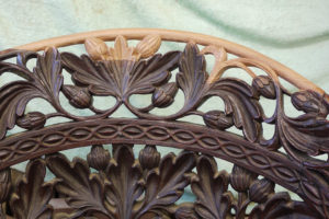 Hand Carved Restoration to Ornamental Foliage
