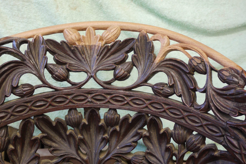 Hand Carved Restoration to Back of Chair